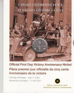 2005 - 5 Cents - Canada celebrate peace