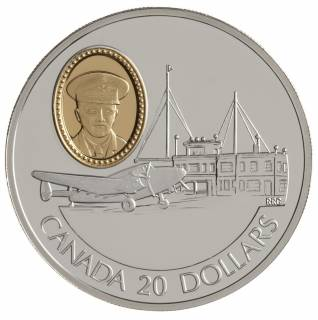 1993 Canada $20 Dollars Sterling Silver - Lockheed 14 Super Electra - Powered Flight