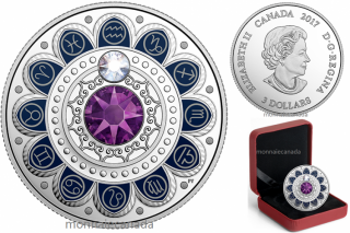 2017 - $3 - Pure Silver coin – Zodiac - Aquarius