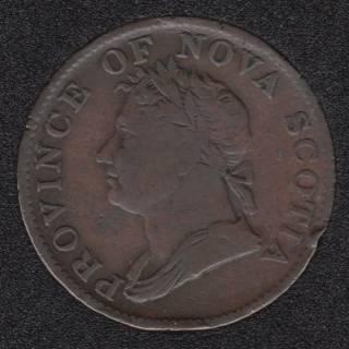 N.S. 1832 Half Penny Token - NS-1D2