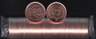 2012 Canada 1 Cent - Non-Mag. - BU ROLL 50 Coins - UNC