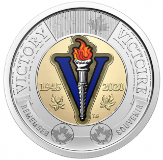 2020 - $2 - 75th Anniversary of the End of the Second World War colored