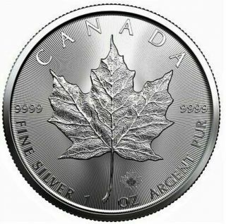 2021 - 1 oz Canada Feuille Érable en Argent Fin - Sans Taxe