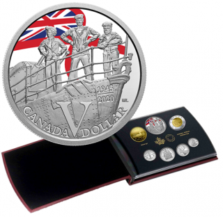 2020 - Special Edition Silver Dollar Proof Set – 75th Anniversary of V-E Day: Royal Canadian Navy