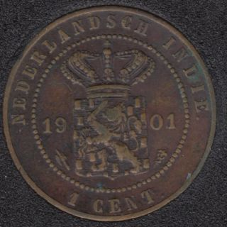 1901 - 1 Cent - Pays-Bas - East-Indies - Kingdom of Netherlands
