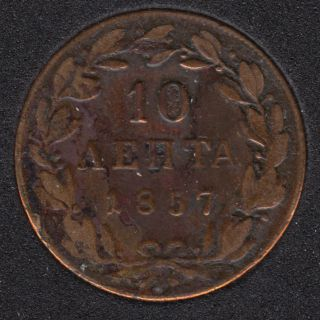 1857 - 10 Lepta - Grèce