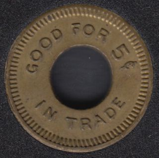 Good For 5¢ in Trade - W.M.C. Made in Canada - Jeton