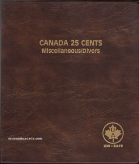 Uni-Safe Coin Album Canada 25 Cents Miscellaneous.