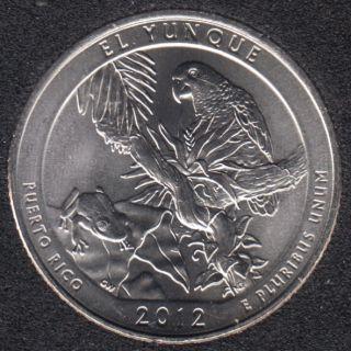 2012 D - El Yunque - 25 Cents