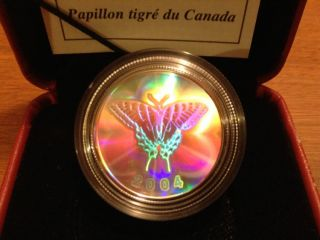 2004 - 50 cents canadian tiger swallowtail Butterfly