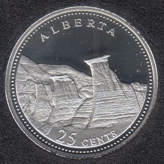 1992 - #6 Proof - Silver - Alberta - Canada 25 Cents