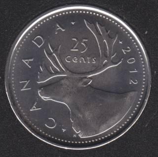 2012 B Unc Canada 25 Cents