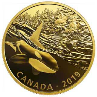 2019 - Golden Reflections: Predator and Prey - 2 oz. Pure Silver Gold-Plated 3-Coin Set