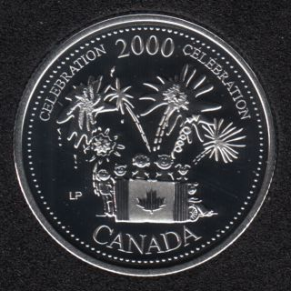 2000 - #7 Proof - Silver - Celebration - Canada 25 Cents