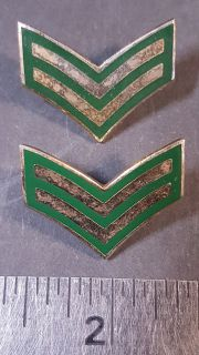 #121 Canadian Military Rank Stripes pin Corporal