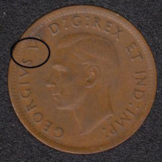 1947 ML - Break Between S & V - Canada Cent