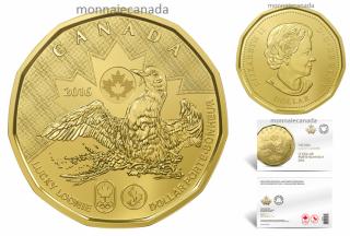 2016 - $1 - Lucky Loonie - 5 coin