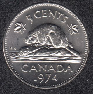 1974 - B.Unc - Canada 5 Cents