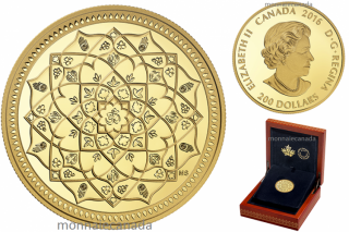 2016 - $200 - 1 oz. Pure Gold Coin – Diwali: Festival of Lights