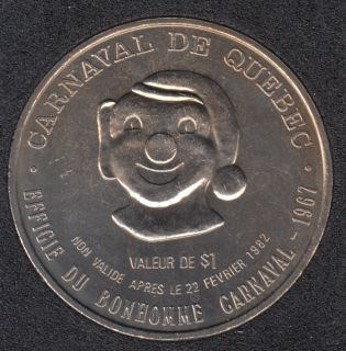 1982 Carnaval de Quebec - Dollar de Commerce