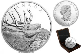 2017 - $125 - 1/2 Kilogram Pure Silver Coin - Elk