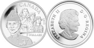 2012 - $5 - Fine Silver Coin - Georgina Pope
