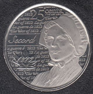 2013 - B.Unc - Laura Secord - Canada 25 Cents