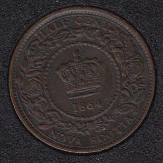 Nouvelle Ecosse - 1864 - EF - 1/2 Cent