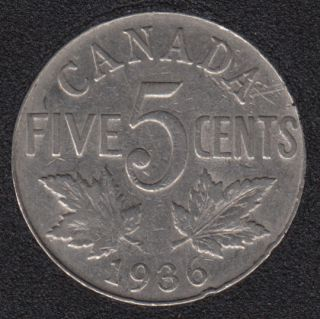 1936 - Canada 5 Cents