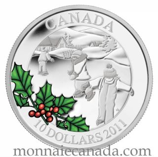 2011- $10 - Fine Silver Coin - Little Skaters