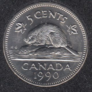 1990 - B.Unc - Canada 5 Cents