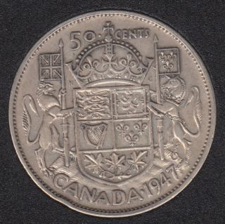 1947 - Curved '7' - Canada 50 Cents