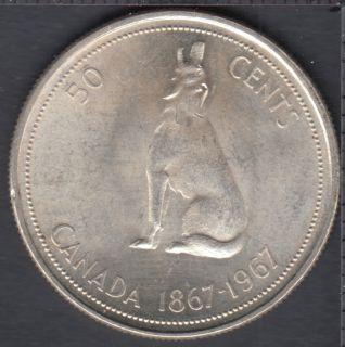 1967 - B.Unc - Canada 50 Cents