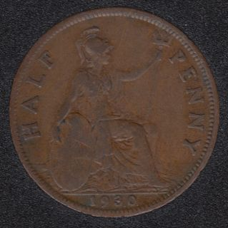 1930 - Half Penny - Great Britain