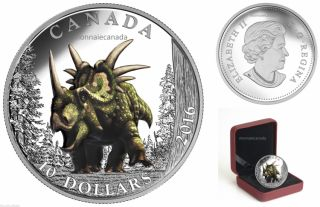 2016 - $10 - Fine Silver Coloured – Day of the Dinosaurs - Spiked Lizard