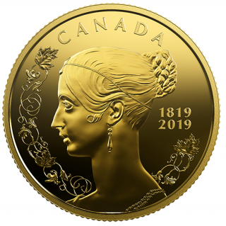 2019 - $50 -   Pure Gold Coin - 200th Anniversary of the Birth of Queen Victoria