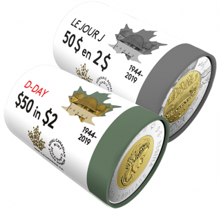 2019 - $2 - 75th Anniversary of D-Day Special Wrap Roll Collection