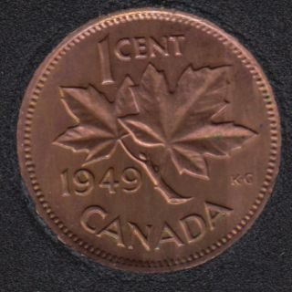 1949 - B.Unc - Rotated Dies - Canada Cent