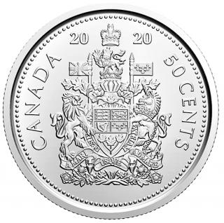 2020 - 50¢ - Rouleau spécial de pièces de circulation de 50 cents