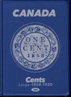 1¢  Album Canada Uni-Safe  (Grosse Cents) 1858-1920