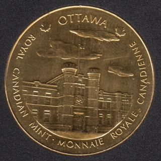 1999 - Nickel Gold Plated - Royal Canadian Mint - Ottawa/Winnipeg - Medaille