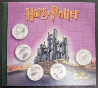 2001 Reelcoinz Collectibles - 5 Medallions & Stickers - Harry Potter