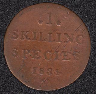 1831 - 1 Skilling - Norvège