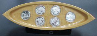 2015 - 6 Coins set of $10 Fine Silver - Canoe Across Canada