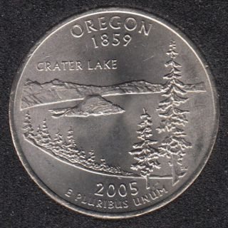 2005 P - B.Unc - Oregon - 25 Cents