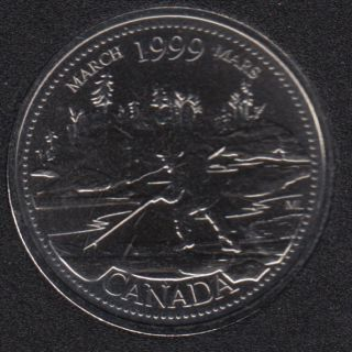 1999 - #3 NBU - March - Canada 25 Cents