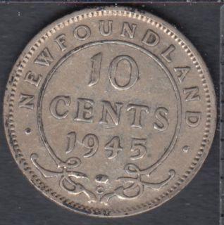 Terre Neuve - 1945 C - 10 Cents