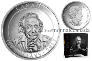 2015 - $100 - 10 oz. Fine Silver – Celebrating Canadian Photographer Yousuf Karsh, Albert Einstein