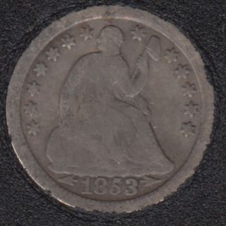 1853 O - Liberty Seated - Half Dime