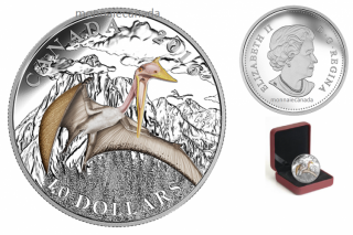 2016 - $10 - Fine Silver Coloured – Day of the Dinosaurs - Terror of the Sky